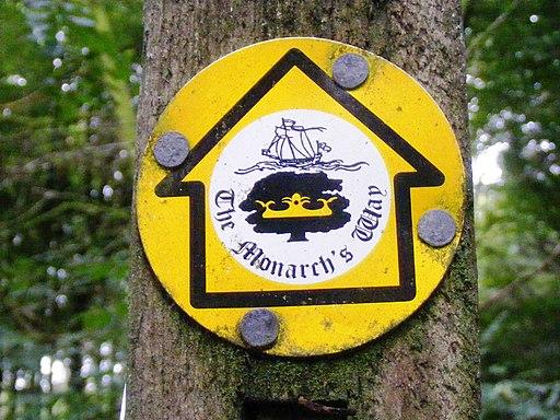 Monarch's Way sign