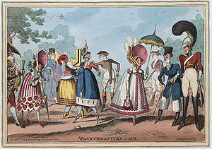 Monstrosities of 1818, extravagant clothing st...
