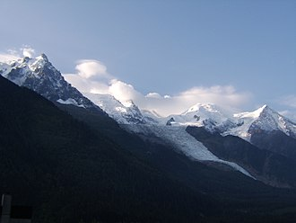 Mont Blanc (poem) - Mont Blanc viewed from Chamonix