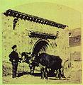 Montañés y su yunta de bueyes junto a la Colegiala de Cervatos - Cantabria - entre 1855 y 1857 - William Atkinson.jpg
