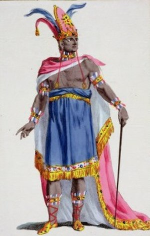 Motezuma - 18th-century depiction of the Aztec ruler Montezuma, the opera's protagonist