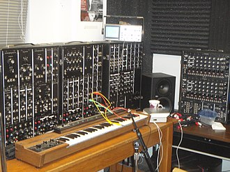 Wendy Carlos - A modular Moog synthesizer, designed by Robert Moog, which Carlos helped popularize
