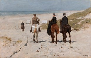 Morning ride along the beach, by Anton Mauve.jpg