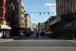 East 136th Street in the Mott Haven section of the Bronx