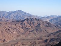 View from the summit of Mount Sinai
