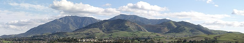 View Of Mount Diablo From Concord North Peak Left Zion Center And Main Right