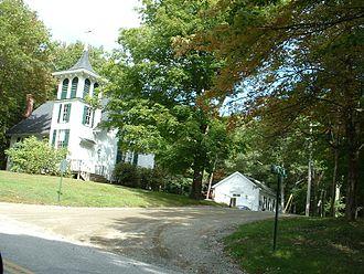Mount Washington, Massachusetts - The town church and town hall