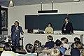 Mr CURIEN Ministre de la Recherche au collège Pierre Brossolette de Chatenay Malabry-23-cliche Jean Weber.jpg