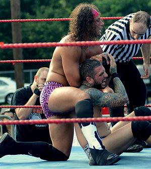 Matt Taven - Matt Taven wrestles Vinny Marseglia at a 2015 outdoor event in Rhode Island