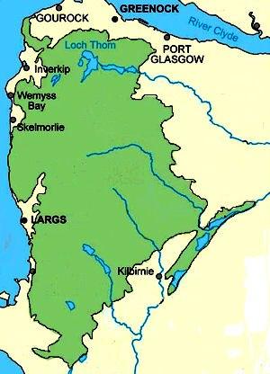 Clyde Muirshiel Regional Park - Extent of the park area