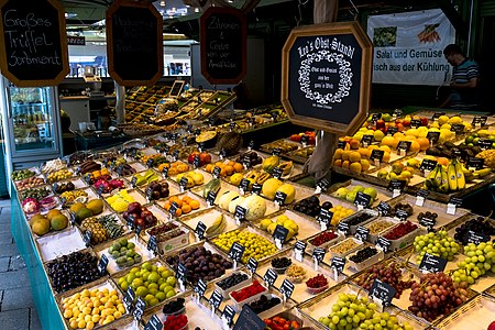 Stall at the Viktualienmarkt in Munich, Germany