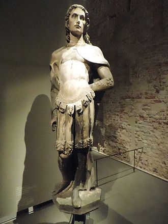 Victor Maurus - Statue of St Victor in Museo del Duomo, Milan. Unknown Milanese sculptor, last decade of 15th century