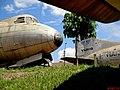 Museu Eduardo André Matarazzo - Bebedouro - Em destaque o quadrimotor Vickers Viscount 701C que voou pela VASP (PP-SRO). Ao fundo a cauda do Convair CV-240-2 (PP-VDG) que voou pela VARIG - panoramio.jpg