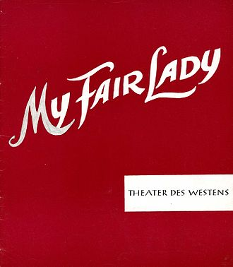 Theater des Westens - Program My Fair Lady, 1961, beginning of musicals in Germany