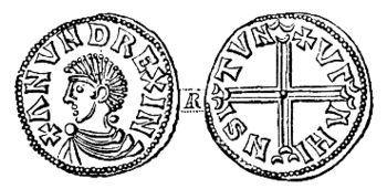 Coin that was minted for Anund Jakob