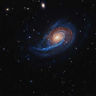 NGC 772 - RGB image of the galaxy NGC 772 and dwarf galaxy NGC 770 (top center) interacting, from the Liverpool Telescope