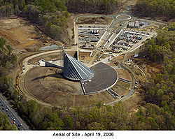 Aerial View Of The Museum Under Construction In April 2006