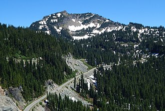 Washington State Route 410 - A series of switchbacks on SR 410 approaching Naches Peak