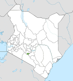 Location of Nairobi County (Green)