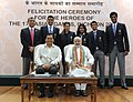 Narendra Modi with the medal winners of the 17th Asian Games, Incheon 2014, in New Delhi. The Minister of State for Skill Development, Entrepreneurship, Youth Affairs and Sports (Independent Charge) (6).jpg