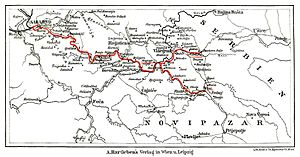 Narrow-gauge railways in Bosnia and Herzegovina - Map of the Bosnian Eastern Railway, 1908