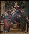 Navata sinistra, Madonna con Bambino in trono tra i Santi Barbara e Lorenzo.jpg