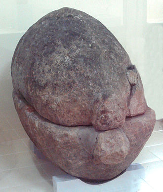History of Bali - Neolithic stone sarcophagus, Bali Museum.