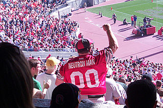 "Neutron Man - ""Neutron Man"" dancing at Ohio Stadium, November 17, 2001."