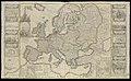 New Map of Europe Done from the most accurate observations communicated to the Royal Society's at London and Paris Illustrated with Plans &c. Views of battles, Seiges and other Advantages obtained by Her Majesties Forces and RMG L9854.jpg