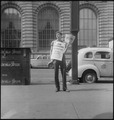 New York City, New York. Miscellaneous. (Young man selling newspapers.) - NARA - 532246.tif