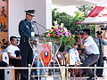 News Reporter Photographing ROCA General Yen Teh-fa Speech on Reviewing Stand 20140531.jpg