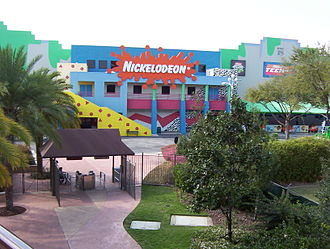 Nickelodeon - Nickelodeon Studios as viewed from the Hard Rock Cafe in March 2004 before it closed