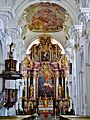 Niederaltaich Klosterbasilika St. Nikolaus Innen Chor 2.JPG