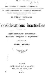 Considérations inactuelles