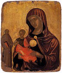 Παναγία Madre della consοlazione με τον Άγιο Φραγκίσκο (β μισό 15ου αι.) Βυζαντινό Μουσείο Αθηνών
