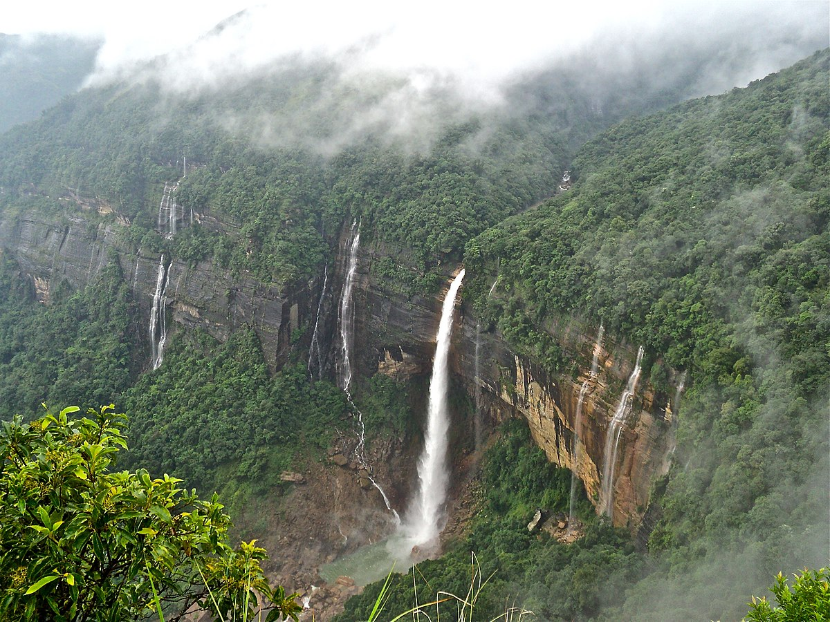 Nohkalikai Waterfall, India waterfall, Top 10 Most Beautiful Waterfalls in the World