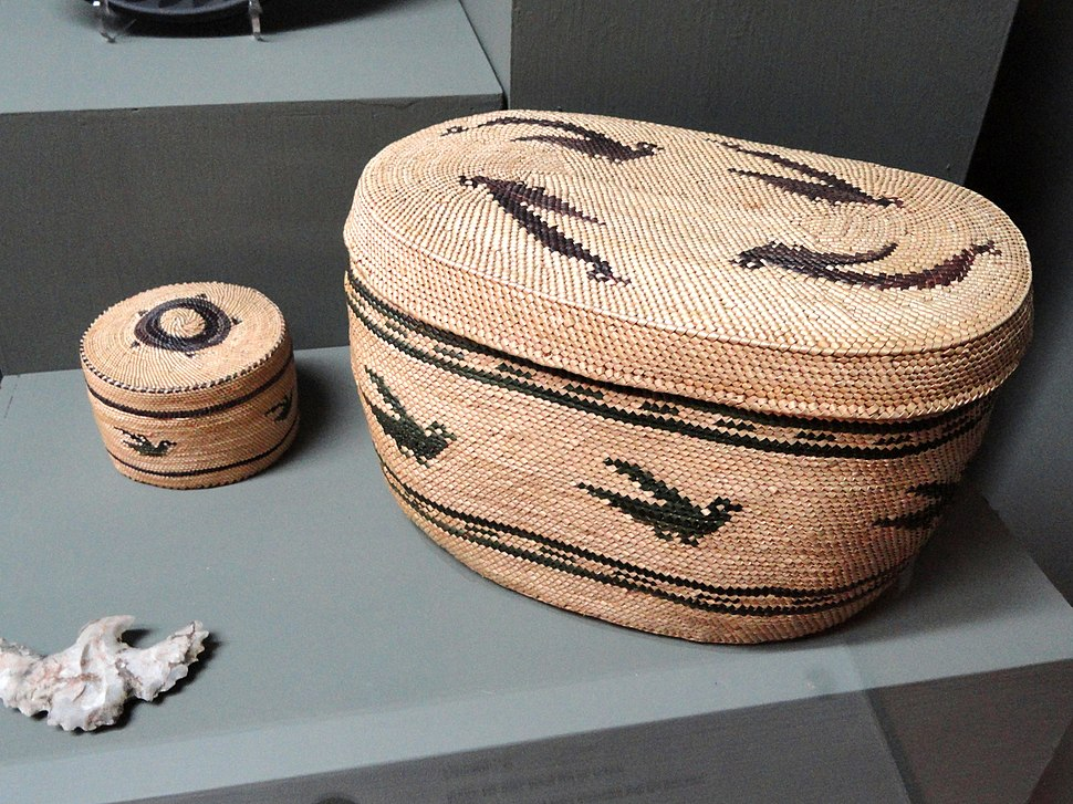 Nootka Makah baskets - Pacific Grove Museum of Natural History - DSC06592