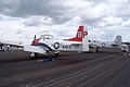 North American T-28A Trojan Navy NX28100 LSideRear SNF 16April2010 (14443790699).jpg
