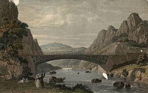 Waterloo Bridge, Betws-y-Coed - Image: North west view of Waterloo Bridge, over the river Conway