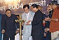 Noted Actor Shri Dilip Kumar lighting the lamp at the inauguration of the 35th International Film Festival of India (IFFI-2004) at Panaji in Goa on November 29, 2004.jpg