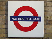 Notting Hill Gate stn Circle District roundel.JPG