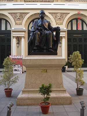 Nubar Pasha - A statue of Nubar Pasha at the entrance of Alexandria's opera house.