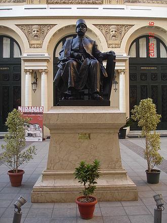 Nubar Pasha - A statue of Nubar Pasha at the entrance of Alexandria's opera house.