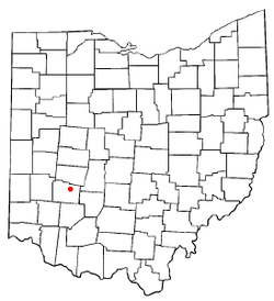 Location of Cedarville, Ohio