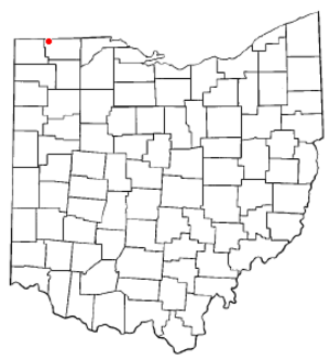 Fayette, Ohio - Image: OH Map doton Fayette