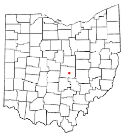 Location of Newark, Ohio