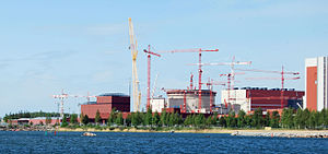 Areva - Olkiluoto-3 under construction in 2009