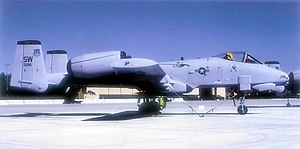 363d Intelligence, Surveillance and Reconnaissance Wing - Fairchild Republic A-10A Thunderbolt II AF Serial No. 79-0206 of the 21st Fighter Squadron, 29 September 1993.