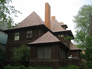 Ridgeland–Oak Park Historic District - George W. Smith house, an early Frank Lloyd Wright design