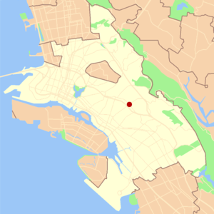 Laurel, Oakland, California - Image: Oakland laurel locator map